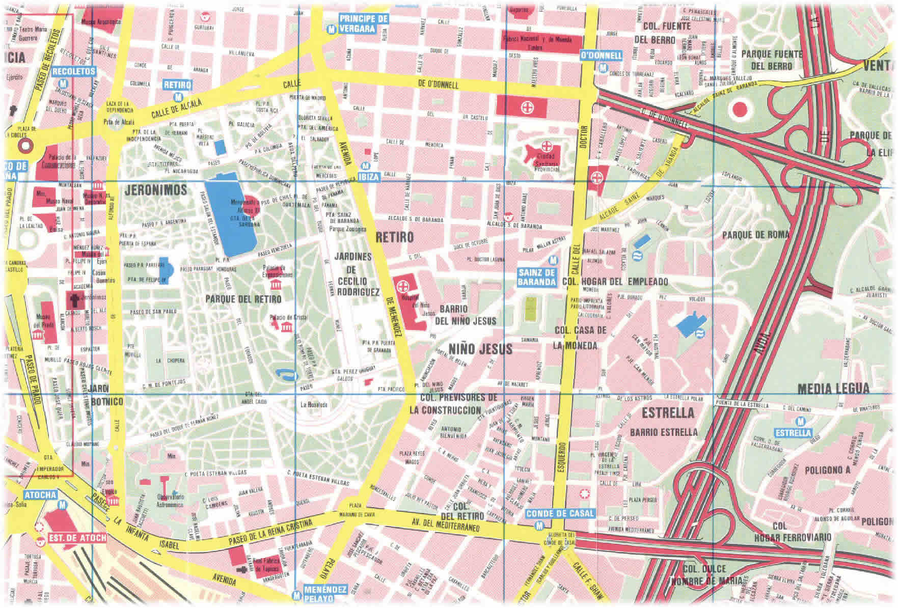Image Gallery madrid map printable