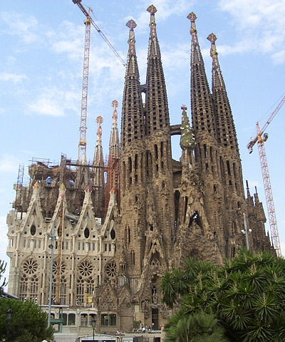 Barcelona - Gaudi - Sagrada familia under construction