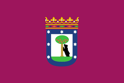 Flag of Madrid Spain