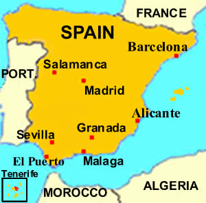 Map Of Spain Tenerife.Facts About Spain